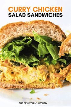 Need a quick and easy lunch recipe for school or work? These curry chicken salad sandwiches are delicious, simple, and fast to make. Make it with raisins, bell peppers, and carrots for a boost of flavor and crunch. #ad #chickendotca #currychicken #chickensalad Wrap Recipes, Dog Recipes, Sandwich Recipes, Lunch Recipes, Dinner Recipes, Quesadilla Recipes, Recipe Using Chicken, Best Chicken Recipes, Healthy Lunches For Work