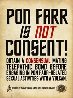 Pon Farr is NOT consent!