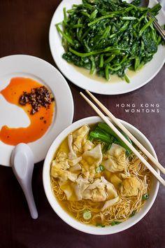 Traditional Hong Kong style Won Ton soup