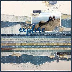 Creating A Family Recipe Scrapbook Beach Scrapbook Layouts, Scrapbook Designs, Travel Scrapbook, Diy Scrapbook, Scrapbooking Layouts, Scrapbook Pages, Beach Shack, Scrapbook Templates, Layout Inspiration