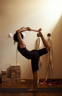 Using a strap is a really good way of working towards a flexibility goal.