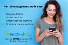 RentMindMe is online rental management software that helps Landlords and Property Managers collect rent, manage maintenance and streamline communications. Virtual Assistant, Property Management, Being A Landlord, Make It Simple, Software, Coding, How To Get, Schedule