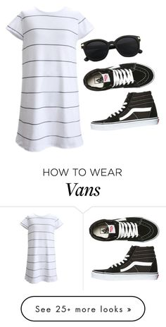 """""""Untitled #1242"""" by kaylakay-1 on Polyvore featuring Vans and Dressunder50"""