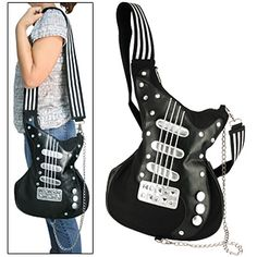 Guitar Strap Purse | Guitar Shaped Purse with Chain