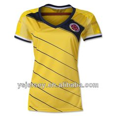 lady 2014 season Colombia women camiseta de futbol thailand quality football shirt colombia women soccer jersey $10.99~$22.99