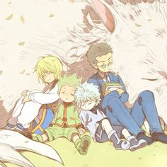 Kurapika, Gon, Killua, and Leorio
