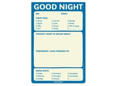 Knock Knock Good Night Pad: What a sweet idea for kids to have a calm and quiet activity before bed!