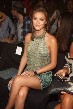 Leighton Meester. I like this look on her. A little more edgy than princess.