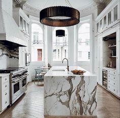 nice 47 Most Stunning Modern Marble Kitchens