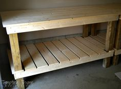 Quick and Easy DIY Potting Bench. I need my dad to do this for me