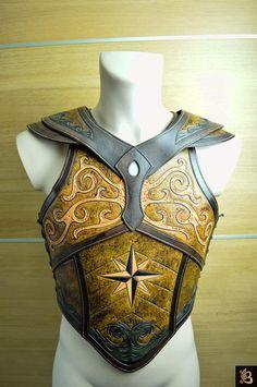 Paladin's Leather Corset to Religion checks Viking Armor, Medieval Armor, Medieval Fantasy, Larp, Armadura Steampunk, Crea Cuir, Foam Armor, Costume Armour, Armadura Medieval