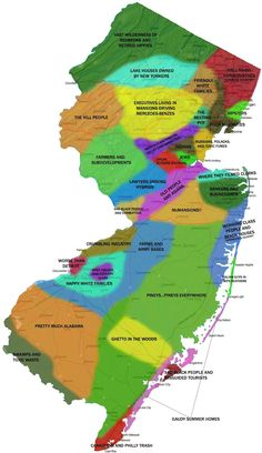New Jersey People Map