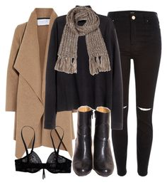 A fashion look from December 2015 featuring short sweater, shawl collar coat and high waisted distressed jeans. Browse and shop related looks. Winter Outfits Women, Fall Outfits, Fashion Outfits, Outing Outfit, High Waisted Distressed Jeans, Weekly Outfits, Cute Casual Outfits, Streetwear Brands, My Style