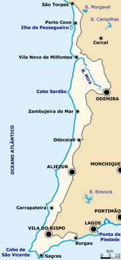 Southwest Alentejo and Vicentine Coast Natural Park is a natural park in the Alentejo Region of south-central Portugal.  It is one of the 30 Natural Park areas which are officially under Portuguese protection in the country.