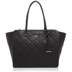 kate spade new york Emerson Place Valerie Tote (680 AUD) ❤ liked on Polyvore featuring bags, handbags, tote bags, black, handbags totes, tote purse, shopping tote, kate spade shopper and quilted tote bag