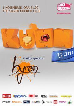 KUMM - Concert aniversar 15 ani. Invitaţi speciali: byron