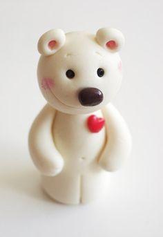Polymer clay miniatur bear handmade by Nathalie s by natbears, $12.00