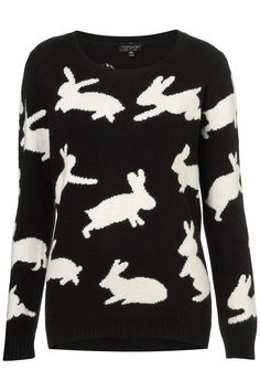 knitted jumping bunny jumper | topshop