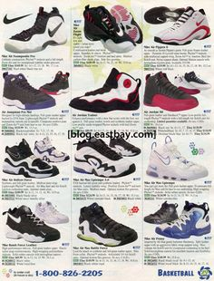 addb69477c 25 Classic Sneakers From Vintage Eastbay CatalogsNike Zoom Flight Glove