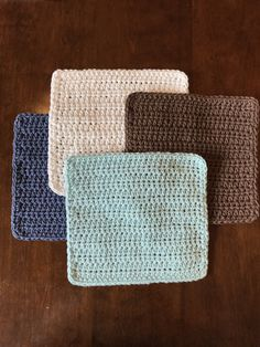 58 Ideas For Crochet Dishcloth Pattern Free Products Easy Crochet Patterns, Crochet Stitches, Knitting Patterns, Cloth Patterns, Crochet Ideas, Blanket Patterns, Knitted Washcloths, Crochet Dishcloths, Crochet Placemats