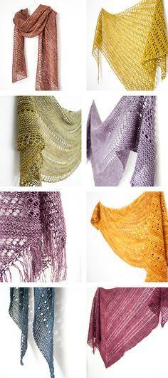 Simple knitting with gorgeous results // Janina Kallio Design Mais Loom Knitting, Knitting Stitches, Free Knitting, Knitting Patterns, Knitted Shawls, Crochet Scarves, Knitting Scarves, Knit Or Crochet, Crochet Shawl