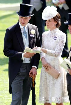 Prince William Duke of Cambridge and Catherine Duchess of Cambridge attend day 1 of Royal Ascot at Ascot Racecourse on June 20 2017 in Ascot England