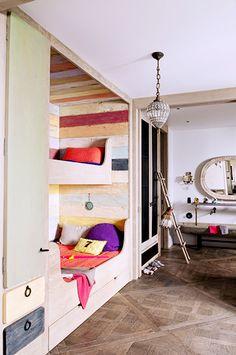 Home Tour: Rustic Modern Glamour in Paris // kids' room, children's room, bedroom