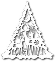 Tutti Designs - Cutting Die - Deer Family Tree This die measures approximately: x Tutti Designs dies are steel dies, universal to most table-top consumer die cutting machines. Christmas Projects, Diy And Crafts, Christmas Crafts, Christmas Decorations, Paper Crafts, Christmas Ornaments, Christmas Stencils, Christmas Paper, Christmas Colors