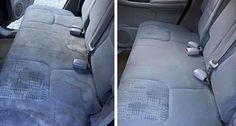 These DIY car detailing hacks are perfect for people who want their car to stay looking new for longer. Car Seat Upholstery, Cleaning Car Upholstery, Seat Cleaner, Car Cleaning Hacks, Diy Cleaners, Diy Car, Home Hacks, Fun To Be One, Tricks