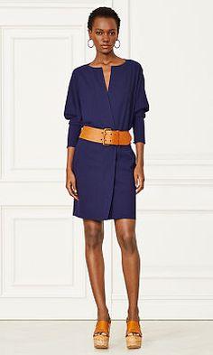 Elsa Stretch Wool Dress - Collection Apparel Short Dresses - RalphLauren.com