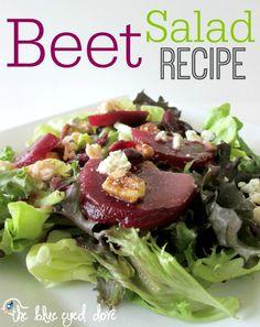 A healthy and delicious Beet Salad Recipe! theblueeyeddove.com