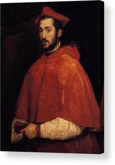 Titian, Cardinal Alessandro Farnese, Oil on canvas, 97 x 73 cm. Alessandro Farnese - an Italian cardinal and diplomat and a great collector and patron of the arts. Alessandro was the grandson of Pope Paul III. Italian Renaissance, Renaissance Art, Pope Paul Iii, Republic Of Venice, Renaissance Paintings, Renaissance Portraits, Standing Poses, Conquistador, Italian Painters