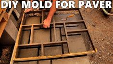 Concrete Paver Mold, Brick Pavers, Outdoor Furniture Plans, Front Yard Design, Diy Molding, Pool Houses, Diy Canvas, Porch Decorating, Wood Projects