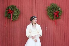 Romantic Winter Barn Wedding | dKin Photography | See More http://heyweddinglady.com/local-sustainable-wedding-ideas-family-run-vineyard-dkin-photography/