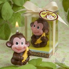 Adorable Monkey Candle Favor