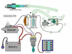 automotive wiring diagram, Resistor To Coil Connect To ...