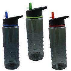Tritan sport bottle flip #straw top water drink hydration #walking #cycling hikin, View more on the LINK: http://www.zeppy.io/product/gb/2/321624316506/