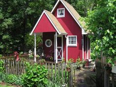 "HGTV fan, 'DexFawcett' built this combination potting shed/garden retreat from scratch. Surrounded by a mini garden and picket fence, the charming refuge ""has given me many hours of enjoyment as well as a tranquil place to spend time in during the warmer weather,"" he says."