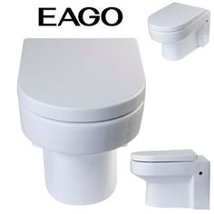 BUY EAGO WD101 Wall Mount Dual Flush Modern White Ceramic Toilet
