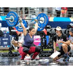 """""""My #wcw Team Savage @adriana_kaible ! 2016 WODAPOLOOZA overhead squat....in the pouring rain!  #savagebabe #savagebarbell"""" Photo taken by @savage_barbell on Instagram, pinned via the InstaPin iOS App! http://www.instapinapp.com (01/27/2016)"""
