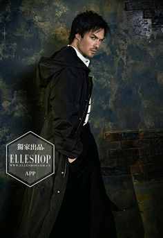 #TVD The Vampire Diaries  Ian Somerhalder(Damon)  Ian Somerhalder - Photoshoot ELLEshop China 2017