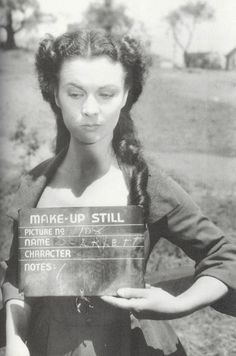 One of my fav movies ever! - make-up still, Vivien Leigh for Gone With The Wind (1939)