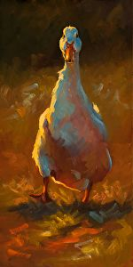 """Waddler"" - by Cheri Christensen .... ~Oil"