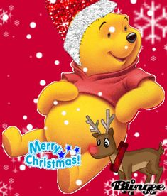 merry christmas pooh bear this is winnie the pooh that says hohoho merry christmas just - Pooh Christmas