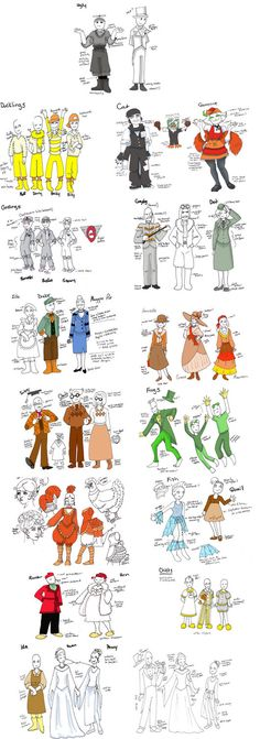 christmas costumes for school I did some costume designs for the local performance of Honk! the Musical. It was a last minute kind of thing, so I just did rough sketches and colors. The finished costumes were a little different. Theatre Geek, Musical Theatre, Theater, Christmas Costumes, Christmas Themes, Honk The Musical, Goose Costume, Costume Design Sketch, Teaching Theatre