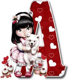 Oh my Alfabetos!: Alfabeto Tilibra Jolie cargando a un perrito. Decorative Alphabet Letters, Alphabet And Numbers, Monogram Letters, Love You Best Friend, Love Mom, Scrapbook Letters, Minnie Png, Cute Couple Art, Sarah Kay