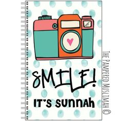 Smile it's Sunnah - Notebook via Silver Lining. Click on the image to see more!
