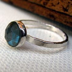 labradorite ring solitaire stacking ring by littlebugjewelry, $68.00