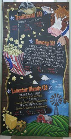 Lonestar Popcorn Chalkboard Menu by Claire Watson