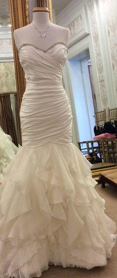 Modern Trousseau Custom Mermaid Wedding Dress Train Mmmmm....